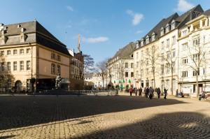 Een straat in luxemburg
