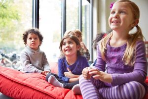 kinderen in kinderdagverblijf